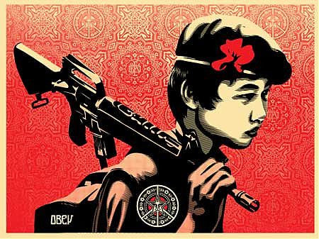 "Shepard Fairey & Al Rockoff - ""Duality of Humanity 2"" 1st Edition - 2008"