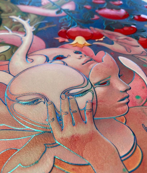 "James Jean - ""Eden"" 1st Edition - 2020 (Detail 1)"