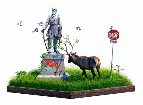 "Josh Keyes - ""Entangle II"" 1st Edition - 2009"
