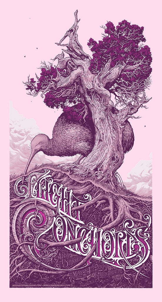"Aaron Horkey - ""Flight of the Conchords Los Angeles"" Purple Edition - 2009"