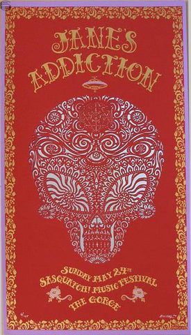 "EMEK - ""Jane's Addiction Sasquatch"" Red Edition -  2009"