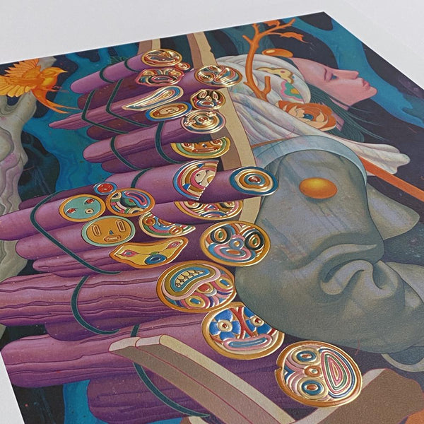 "James Jean - ""Kindling III"" 1st Edition - 2020 (Detail 2)"