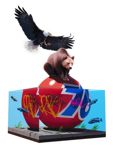 "Josh Keyes - ""Lifted"" 1st Edition - 2010"