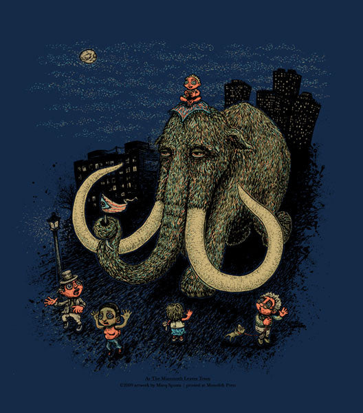 "Marq Spusta - ""As the Mammoth Leaves Town"" Blue Edition - 2009"