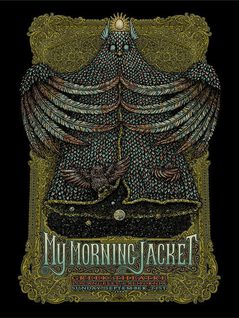 "Marq Spusta - ""My Morning Jacket Los Angeles 08"" Black Variant - 2008"
