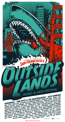 "Ames Design - ""Outside Lands Festival San Francisco"" 1st Edition - 2008"