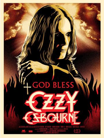 "Shepard Fairey - ""God Bless Ozzy Osbourne"" 1st Edition - 2011"