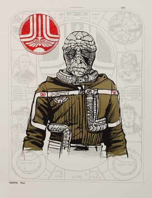 "Tyler Stout - ""A Portrait of the Navigator as a Young Starfighter"" 1st Edition - 2010"