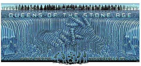 "EMEK - ""Queens of the Stone Age Niagara Falls 17"" Artist Edition - 2017"