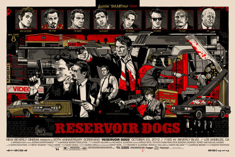 "Tyler Stout - ""Reservoir Dogs"" Signed 1st Edition - 2012"