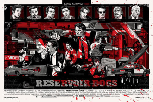 "Tyler Stout - ""Reservoir Dogs"" Signed Blood Variant - 2012"