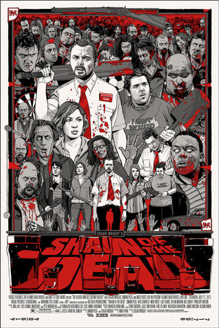 "Tyler Stout - ""Shaun of the Dead"" Variant - 2013"