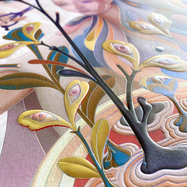 "James Jean - ""The Editor"" 1st Edition - 2019 (Detail 2)"