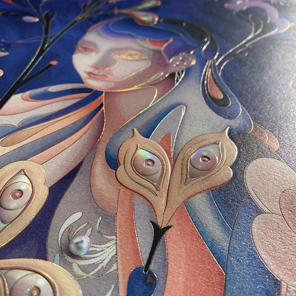 "James Jean - ""The Editor"" Night Mode Edition - 2020 (Detail 3)"