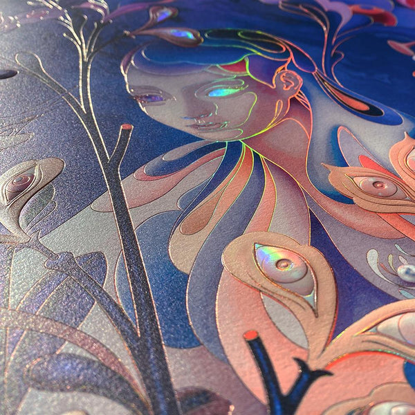 "James Jean - ""The Editor"" Night Mode Edition - 2020 (Detail 4)"
