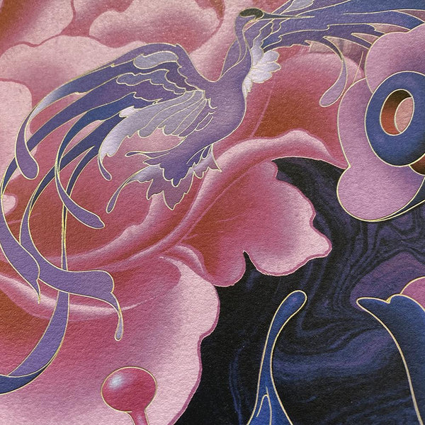 "James Jean - ""The Editor"" Night Mode Edition - 2020 (Detail 6)"