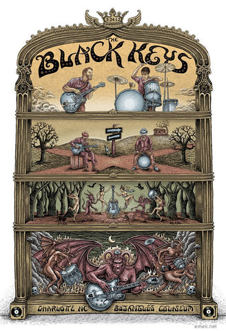 "EMEK - ""Black Keys Charlotte"" Artist Edition - 2012"