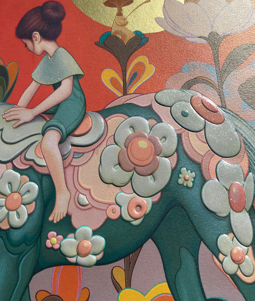 "James Jean - ""Traveler"" 1st Edition - 2018 (Detail 1)"
