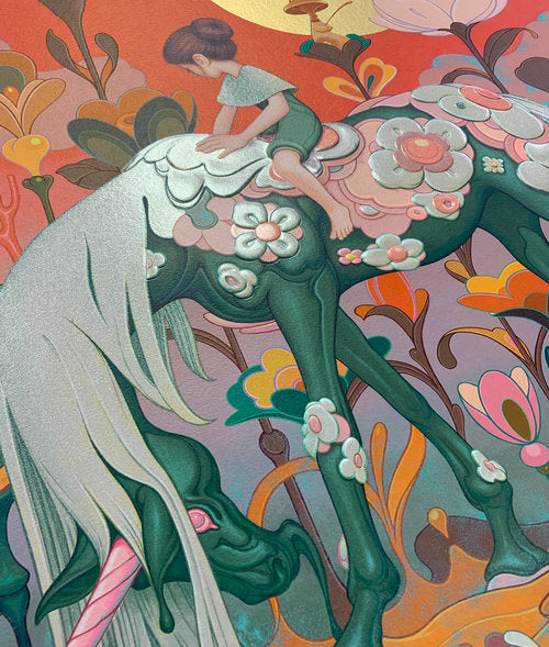 "James Jean - ""Traveler"" 1st Edition - 2018 (Detail 2)"