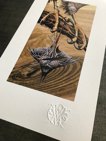 """Venin"" (Detail 1) by Aaron Horkey"