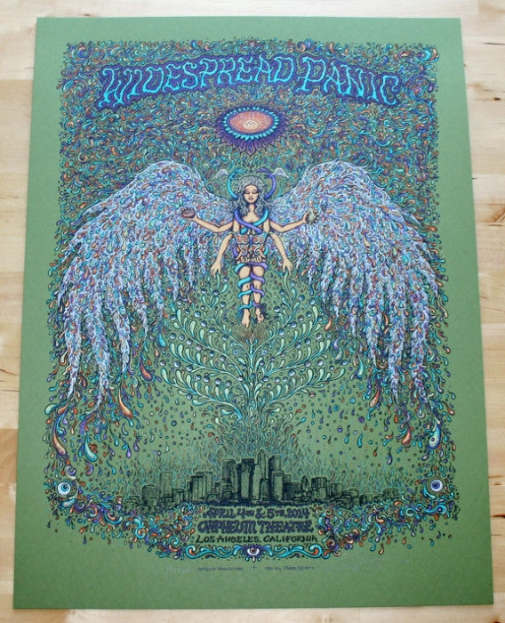 "Marq Spusta - ""Widespread Panic Los Angeles"" Green Variant - 2014"