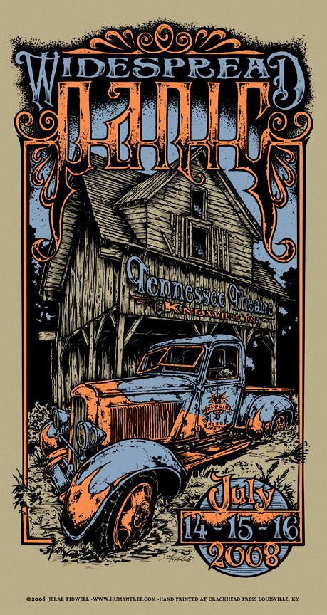 "Jeral Tidwell - ""Widespread Panic Knoxville 08"" AP Edition - 2008"
