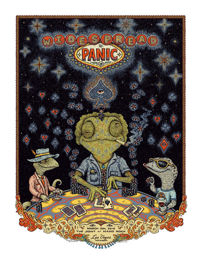 "Marq Spusta - ""Widespread Panic Las Vegas Night 2"" 1st Edition - 2015"