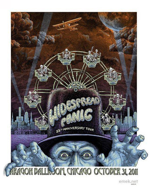 "EMEK - ""Widespread Panic Chicago 11"" 1st Edition - 2011"