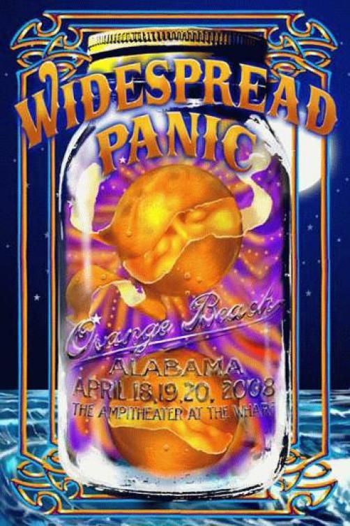 "Richard Biffle - ""Widespread Panic Orange Beach"" 1st Edition - 2008"