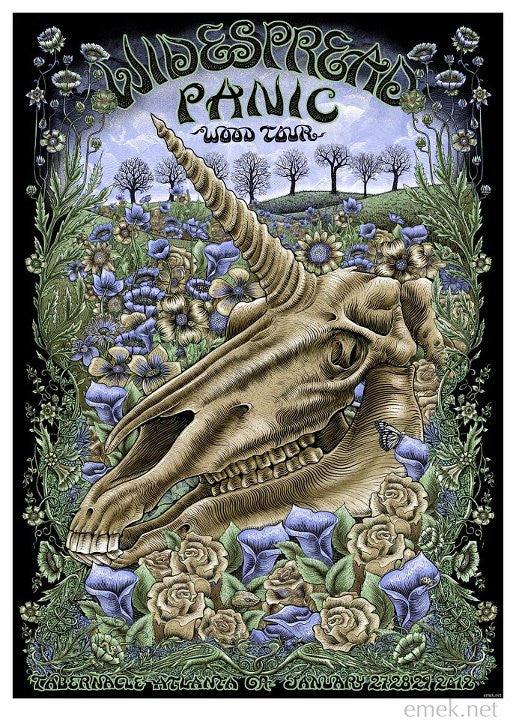 "EMEK - ""Widespread Panic Atlanta"" 1st Edition - 2012"