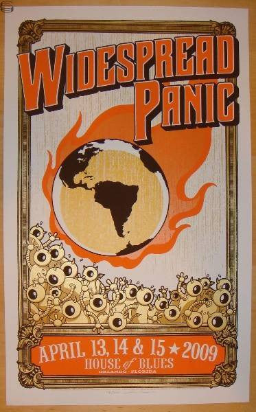 "Mike King - ""Widespread Panic Orlando"" 1st Edition - 2009"