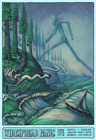 "David Welker - ""Widespread Panic Spring Tour"" 1st Edition - 2014"