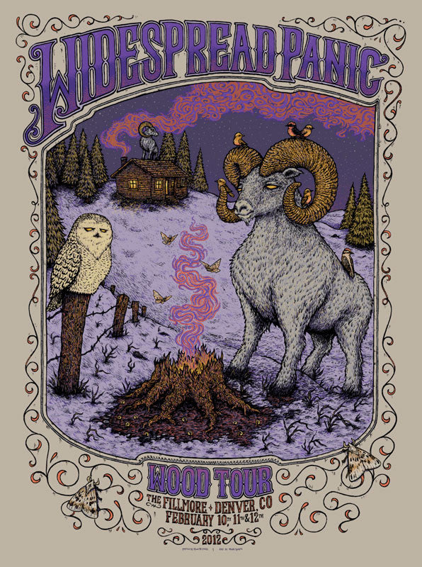 "Marq Spusta - ""Widespread Panic Wood Tour Denver"" 1st Edition - 2012"