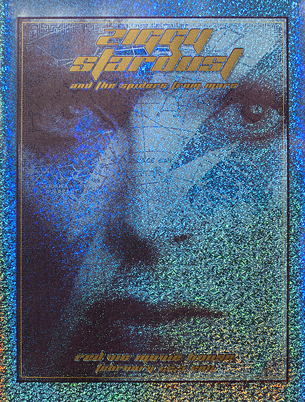 "Dave Hunter - ""Ziggy Stardust"" Sparkle Foil Tinted-Silver - 2011"