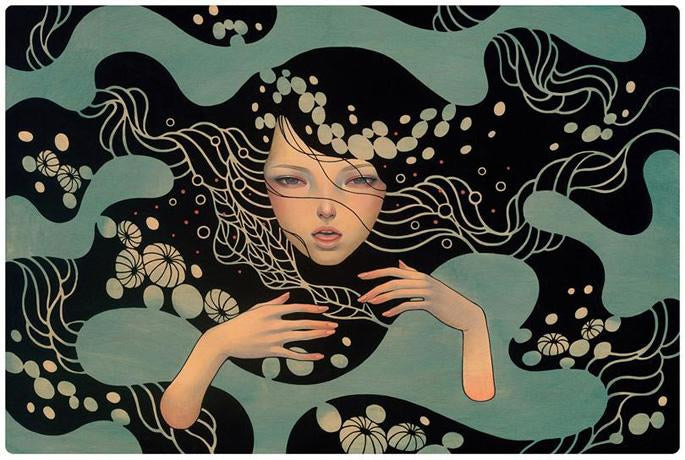"""Forget Me Not"" Fine Art Print by Audrey Kawasaki"