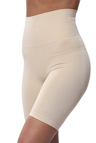 Franato Womens Firm Control Tummy Bum and Thigh Control Shorts in Black Or Nude