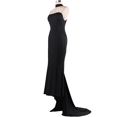 iShine Women's Mermaid Formal Evening Party Maxi Dresses Prom Gown Sexy Halterneck Corset Long Dress