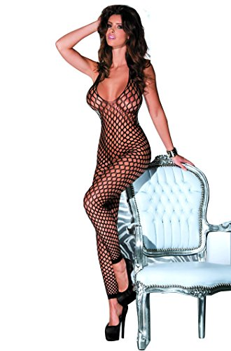 LVYI Sexy Lace See Through Hosiery Fishnet Bodystocking With Open Crotch For Sex