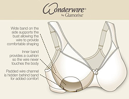 Glamorise Women's Front Close Underwire Full Cup Everyday Bra