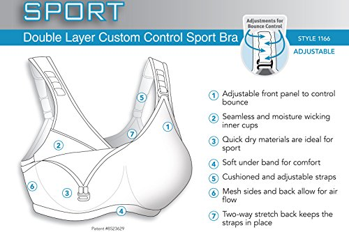 Glamorise Women's Double Layer Custom Control Sports Bra