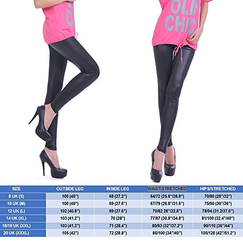 Miss Moly Stylish & Fit Sexy Womens Faux Leather High Waisted Leggings