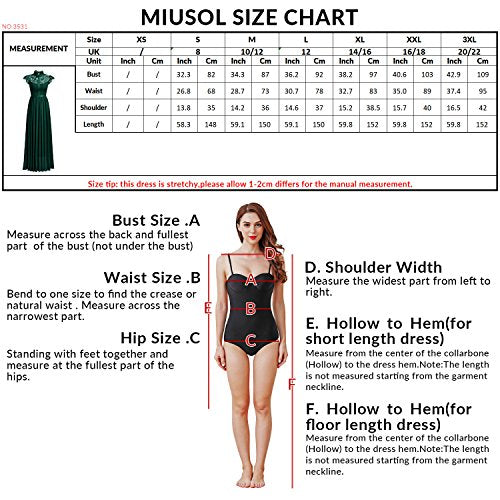 MIUSOL Women's Formal Floral Lace p Sleeve Evening Party Maxi Dresses For Women
