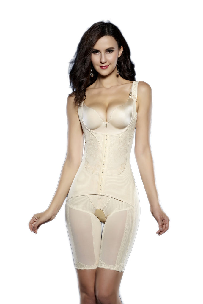 Women's Full Body Shaper Waist Cincher Underbust Corset Bodysuit Shapewear
