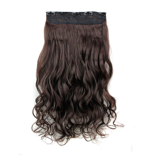 5Pcs Clip False Hair Synthetic Hair Extension Curly Heat Resistant Hair
