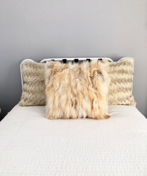 Reclaimed Fox Fur Pillow 22 x 22""