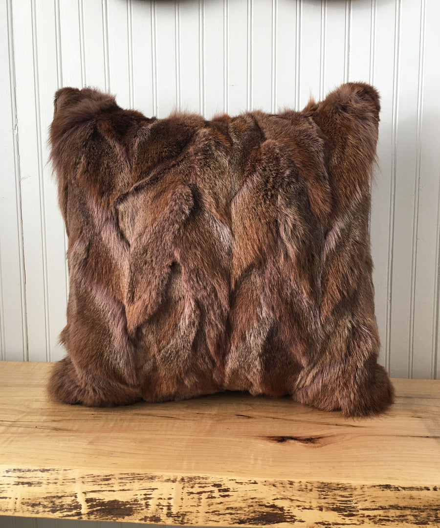 Reclaimed Rabbit Fur Pillow 22 x 22""