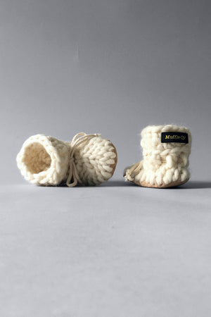 Baby and Kids Merino Wool Slippers - Ivory