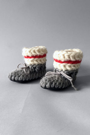 Baby and Kids Merino Wool Slippers - Sock Monkey