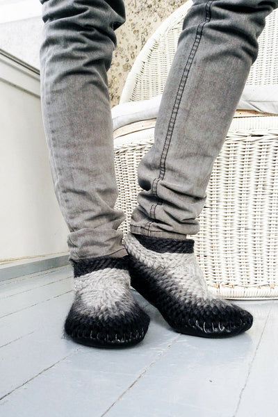 MuffleUp Slippers Men: Charcoal Fade