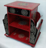 Furniture Hand Made Painted,India,Indian Art.Magazine Drawer.